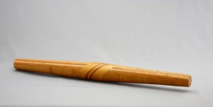 French rolling pin with diagonal inlay