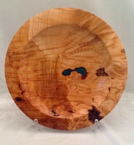 "15"" Maple Burl Platter"