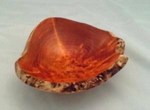 """5"""" Natural Edge Maple Burl orange"""